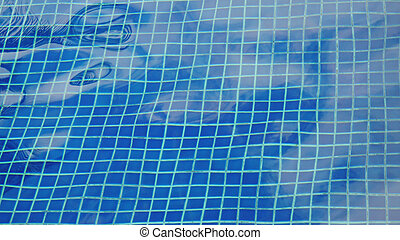 Sparkling Water loops in a swimming pool - Sparkling Water...