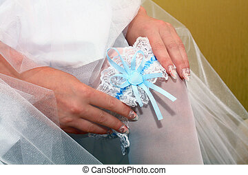 garter - wedding garter from the bride