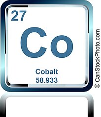 Chemical element cobalt from the Periodic Table - Symbol of...