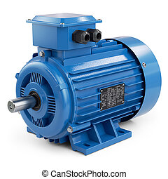 Industrial electric motor blue