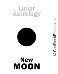 Astrology: New MOON - Astrology Alphabet: New MOON (Lunar...