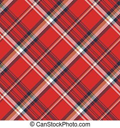Red plaid fabric texture seamless pattern