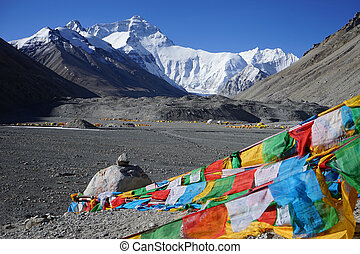 Everest base camp in Tibet, China