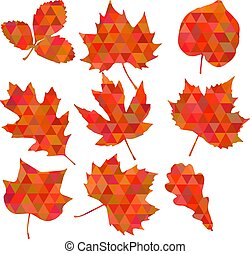 Colorful leaf background, eps10 vector - Cute Floral pattern...