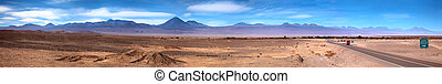 panorama of San Pedro de Atacama - panoramic view of San...