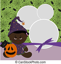 Blank template for Halloween photo frame