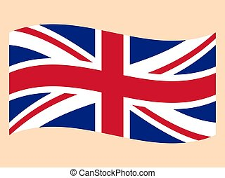 Flag Of The Great Britain on a white background