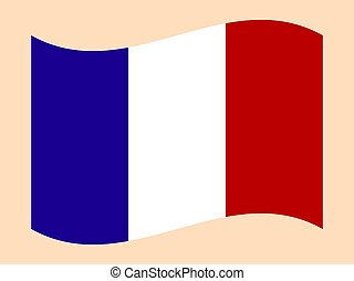 Official national flag of France. on a white background