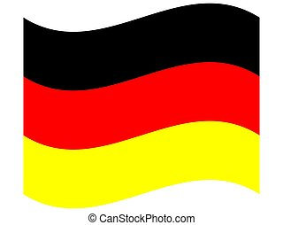 Official national flag of Germany. on a white background