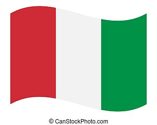 Italy flag, vector illustration. on a white background