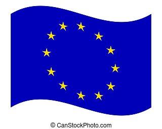 European Union flag, vector.