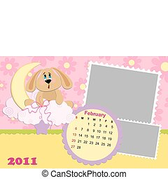 Baby's monthly calendar for february 2011's