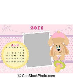 Baby's monthly calendar for april 2011's