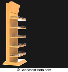 sales point stand 3d illustration