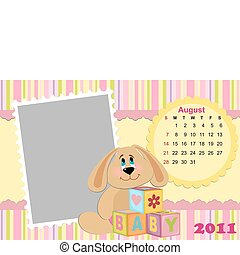 Baby's monthly calendar for august 2011's
