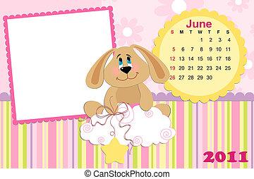 Baby's monthly calendar for june 2011's