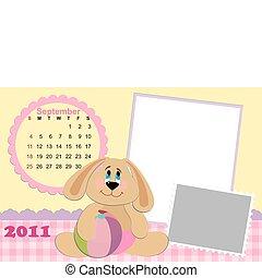 Baby's monthly calendar for september 2011's