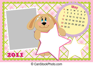 Baby's monthly calendar for may 2011's