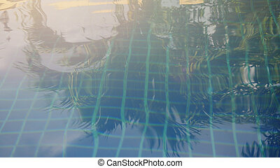 Sparkling Water loops in swimming pool - Sparkling Water...