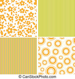 Scrapbook elements. Collection of seamless patterns