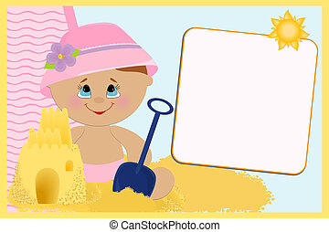 Blank template for greetings card - Blank template for babys...