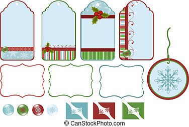 Collection of christmas tags