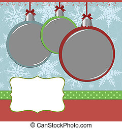 Xmas photo frame - Blank template for christmas photo frame