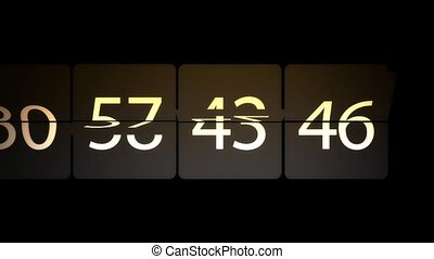 Number of chaos. Many rapidly changing figures - Many...