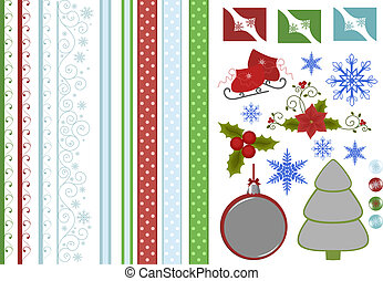 Collection of christmas scrapbook decors