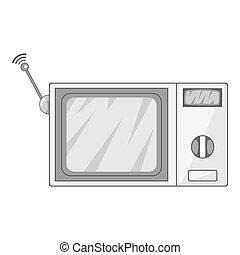 Videophone icon monochrome - Videophone icon in monochrome...