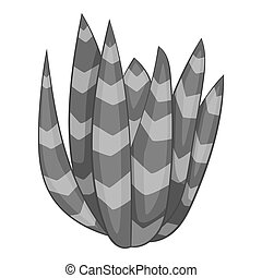 Spotted agave icon monochrome - Spotted agave icon in...