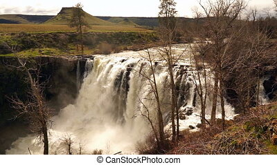 White River Falls State Park Oregon - Waterfall on the White...