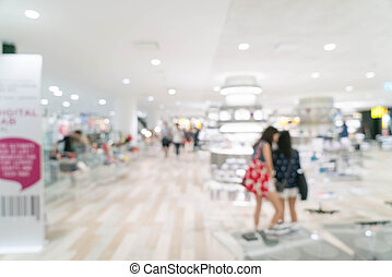 Abstract blur beautiful luxury shopping mall and retails...