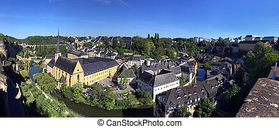 Luxembourg City - Ville de Luxembourg. Panoramic view of St...