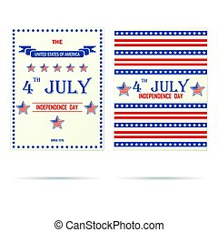 Two USA holiday porsters - Set of two USA independence day...