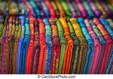 Textile products in the store