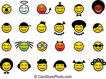 happy smileys face - color happy smileys face