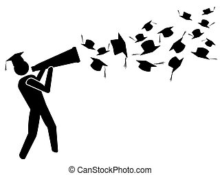the graduate for success with megaphone