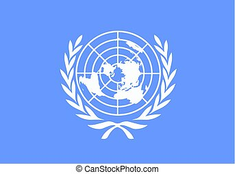 united nations flag vector - blue flag - political concept