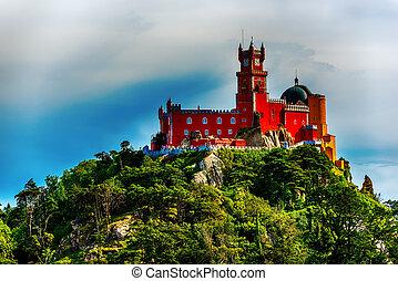 intra, Portugal: Pena Palace, Palace da Pena, romanticist...