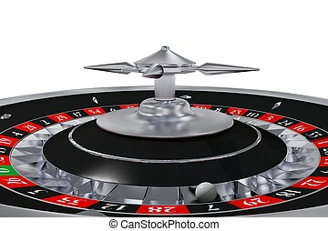 Isolated Roulette Wheel 3D Rendered Illustration. Side View...