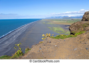 Beaches in Iceland - Endless beach on the coast of Vik