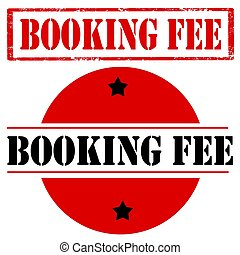 Booking Fee-stamps - Set of stamps with text Booking...