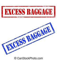 Excess Baggage-stamps - Set of stamps with text Excess...