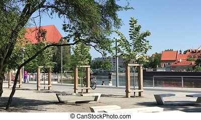 View to Ostrow Tumski, Wroclaw, Poland. - View to Ostrow...