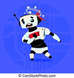 Cute Robot Dizzy Error Broken Modern Artificial Intelligence...