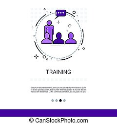Learning Training Courses Education Web Banner With Copy...