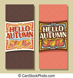Vector vertical banners for Autumn season: 2 layouts with...