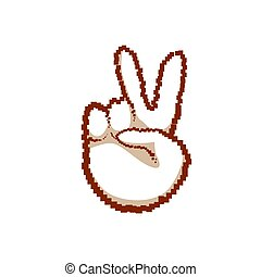 Victory Sign Peace Hand Gesture People Emotion Icon
