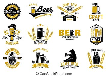Vintage design for bar, pub and restaurant business. - Set...